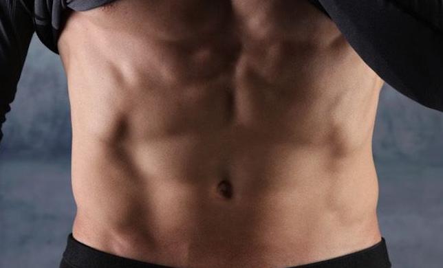 męski płaski brzuch